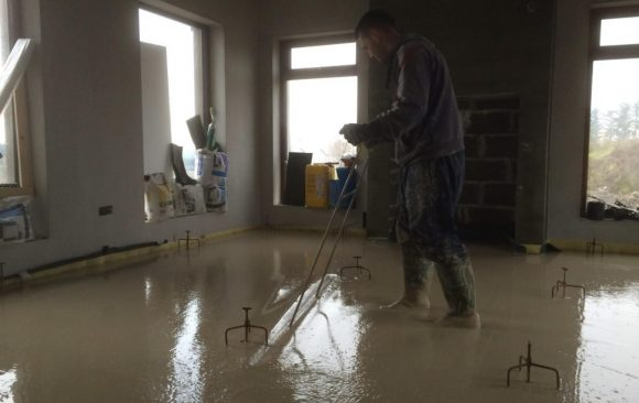 Self Build Home, Liquid Floor Screed Donegal