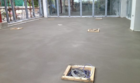 Fast Track Floor Screed in New Build Derry