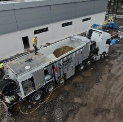 B Doherty Screeding - Mobile Screed Factory_onsite at Lidl in Donegal