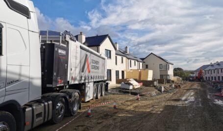 Mobile Screed Factory | Social Housing Kilkenny | Glenturas Construction