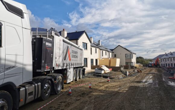 Mobile Screed Factory   Social Housing Kilkenny   Glenturas Construction