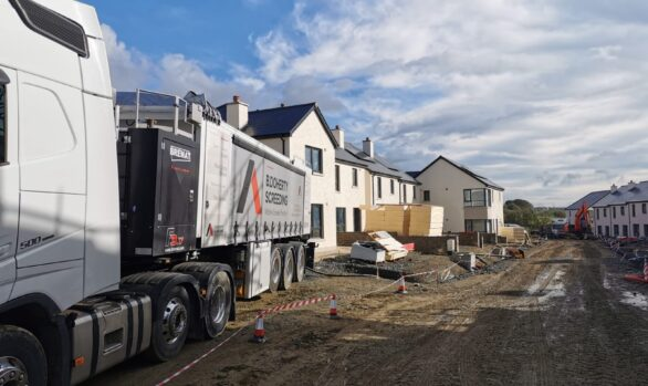 Mobile Screed Factory | Social Housing Kilkenny | Glenturas Construction