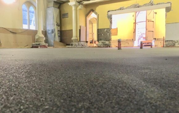 Fast Track Renovation in VHI Building Dublin | Rapid Drying Screed