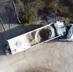 b doherty screeding services mobile screed factory_hopper view