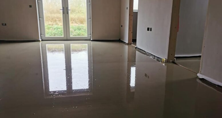 B Doherty Mobile Screeding Factory | 160m2 Hemihydrate liquid screed at 50 mm | Donegal