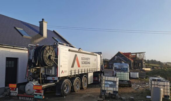 270m2 of 80mm Sand and Cement Fibre Screed | Ten Foot Rd | Co Donegal