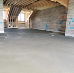 B Doherty Screeding for Andrews Construction_sand and cement_ apartments