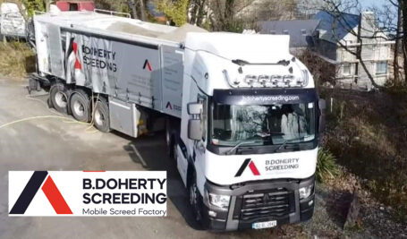 Sand and Cement Fibre Screed | 75mm over UFH in Ardee | Mobile Screed Factory