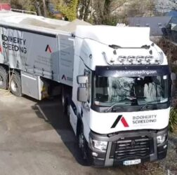 B Doherty Ltd Mobile Screed Factory on the road