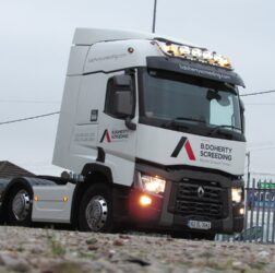 B Doherty Screeding - Mobile Screed Factory_ new Renault truck_