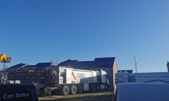 100 MM SAND AND CEMENT | Kevin Watson Group | Social Housing Scheme Galliagh