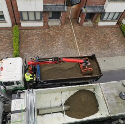 Mobile Screed Factory | Sand reload as we go